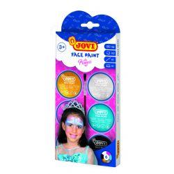 Ansiktsfärg Prinsessor 6 burkar 8ml med borste och 2 skedar