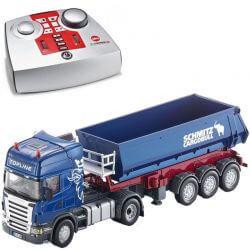 Radiostyrd Scania lastbil med tippflak. Siku. 1:32