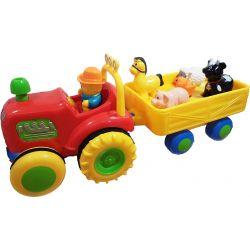 Leksakstraktor med vagn och djur. Till mindre barn.