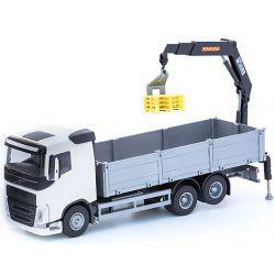 Leksakslastbil Volvo med lastkran på flaket. Emek 1:25