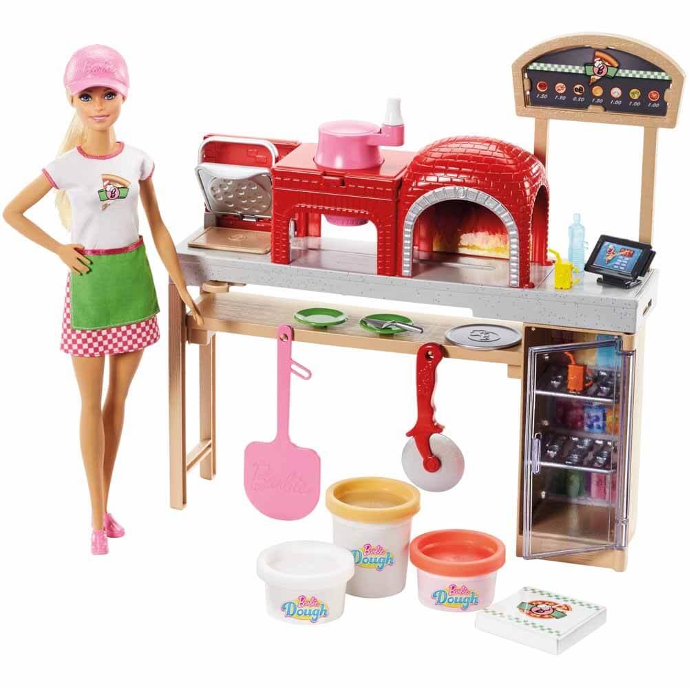 Barbie Pizzabagare Pizzakök och Docka FHR09