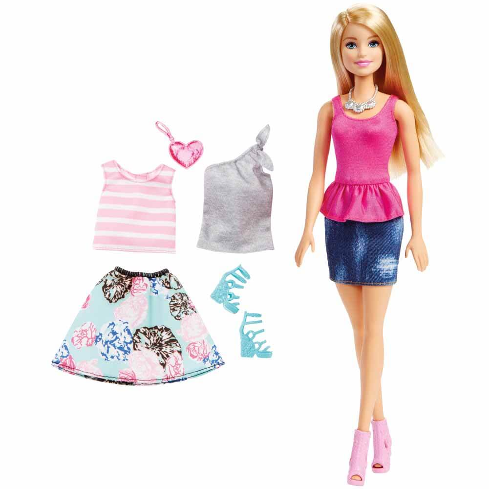 Barbiedocka Fashion Skirt Set Mode DMN98