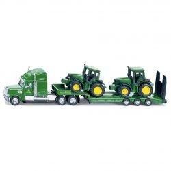Siku lastbil med trailer och John Deere traktorer Skala 1:87