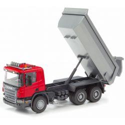 Scania Röd tipplastbil Emek 1:25