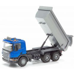 Scania Blå tipplastbil Emek 1:25