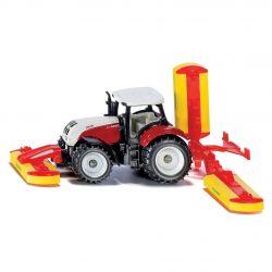 Siku Traktor Blister Steyr med slåtterkross