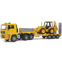 Bruder Låglastare MAN TGA Trailer med traktorgrävare 02776