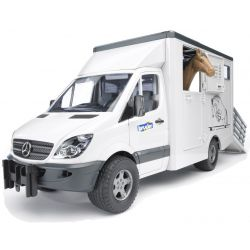 Bruder Hästtransport Mercedes Benz med en häst 02533