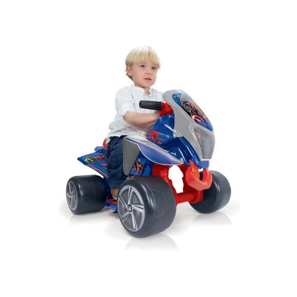 Elfyrhjuling ATV Quarterback Avengers 6 volt Injusa