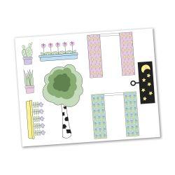 Lundby Sticker set blommor till Creative dockskåp