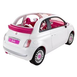 Barbie med barbiebil Fiat 500