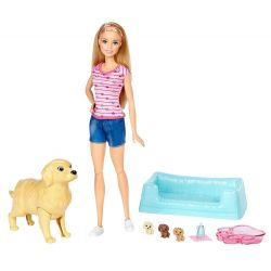 Barbie Newborn Pups Rosa