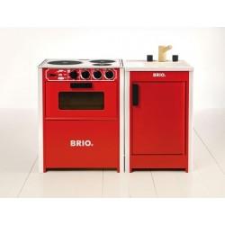 BRIO Spis, röd Spis. Stadig modell med påtryc