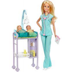 Barbie Baby Doctor Doll Playset Barnläkare med 2 bebisar
