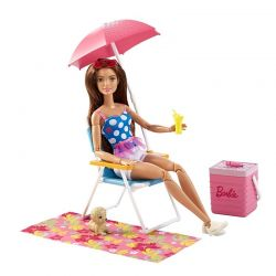 Barbie Mattel solstol strandset