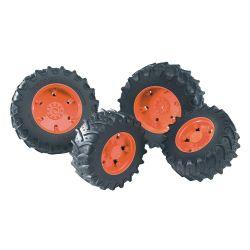 Bruder tvillingdäck med orange fälgar 03312