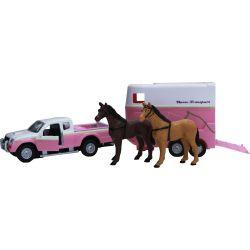Kids Globe Mitsubishi Leksaksbil med hästsläp 2 st hästar