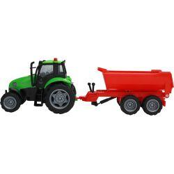 Kids Globe Traktor med tippbart släp