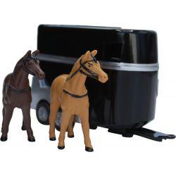 Leksaksbil Volvo XC90 med hästtrailer Kids Globe