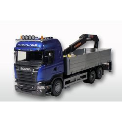 Emek Scania kranlastbil med pallar 1:25
