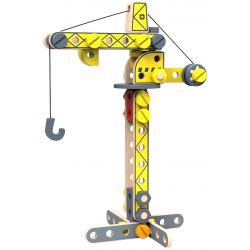 Byggkran och lyftkran i trä för barn Tooky Toy