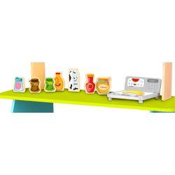 Marknadsstånd leksak i trä för att leka affär Tooky Toy