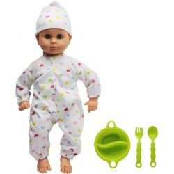 Lovely Baby Docka Baby 32 cm Matskål Grön