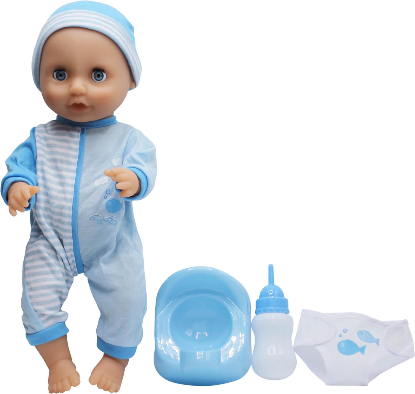 Dolls World Docka Baby Tinkle Blå 38 cm