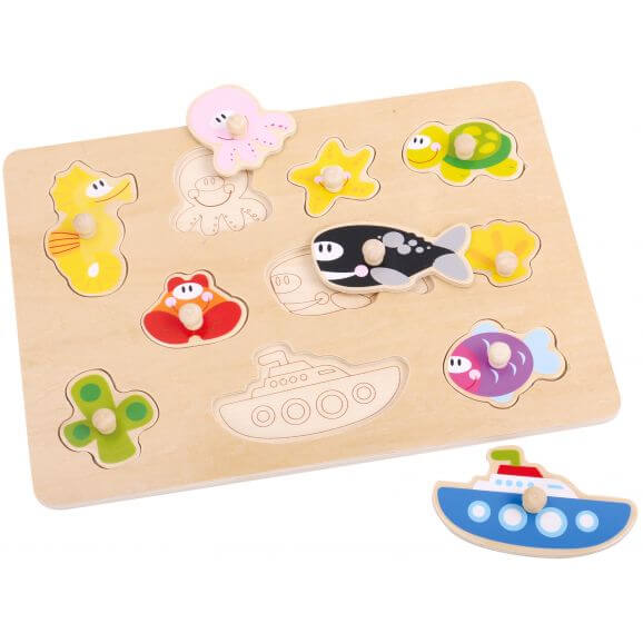 Pussel med fiskar och havsdjur Tooky Toy