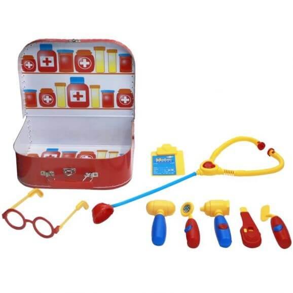 Doktorset barn för att leka doktor