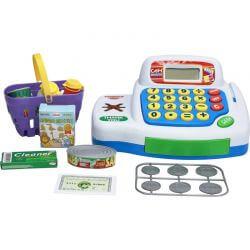 Kassaapparat leksak med tillbehör för att leka affär