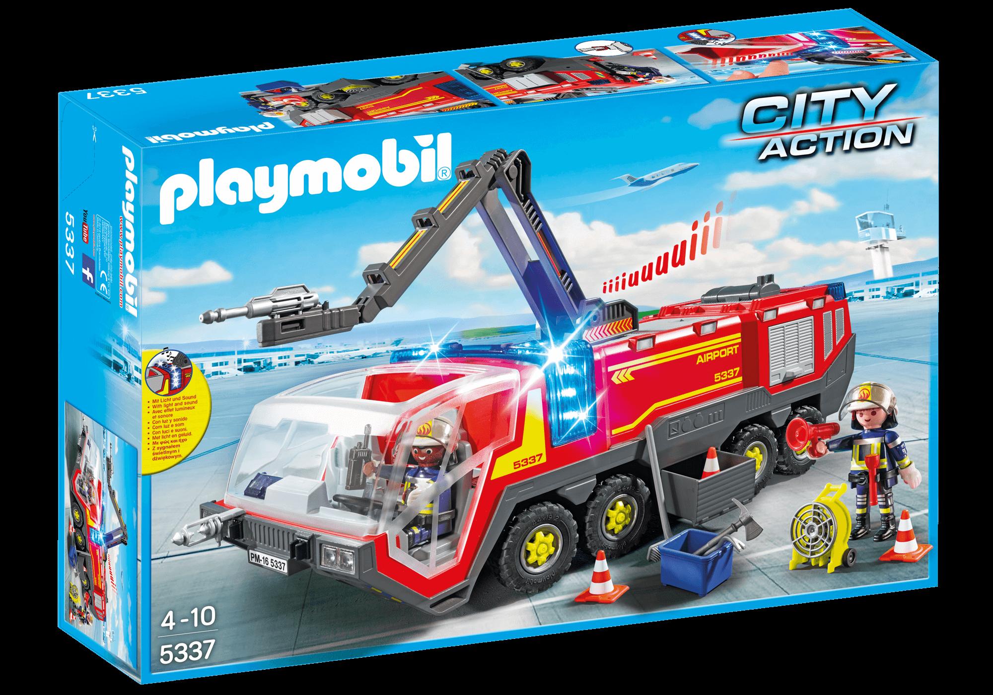 Läs mer om Playmobil Flygplatsbrandbil med lampor och ljud 5337