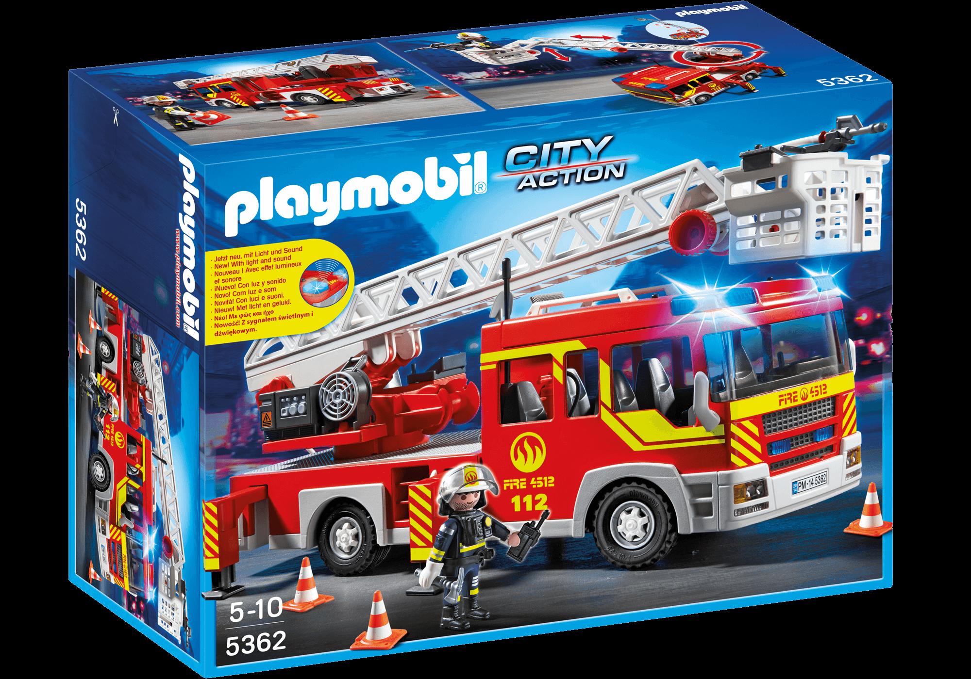 Läs mer om Playmobil Brandbil med stege 5362