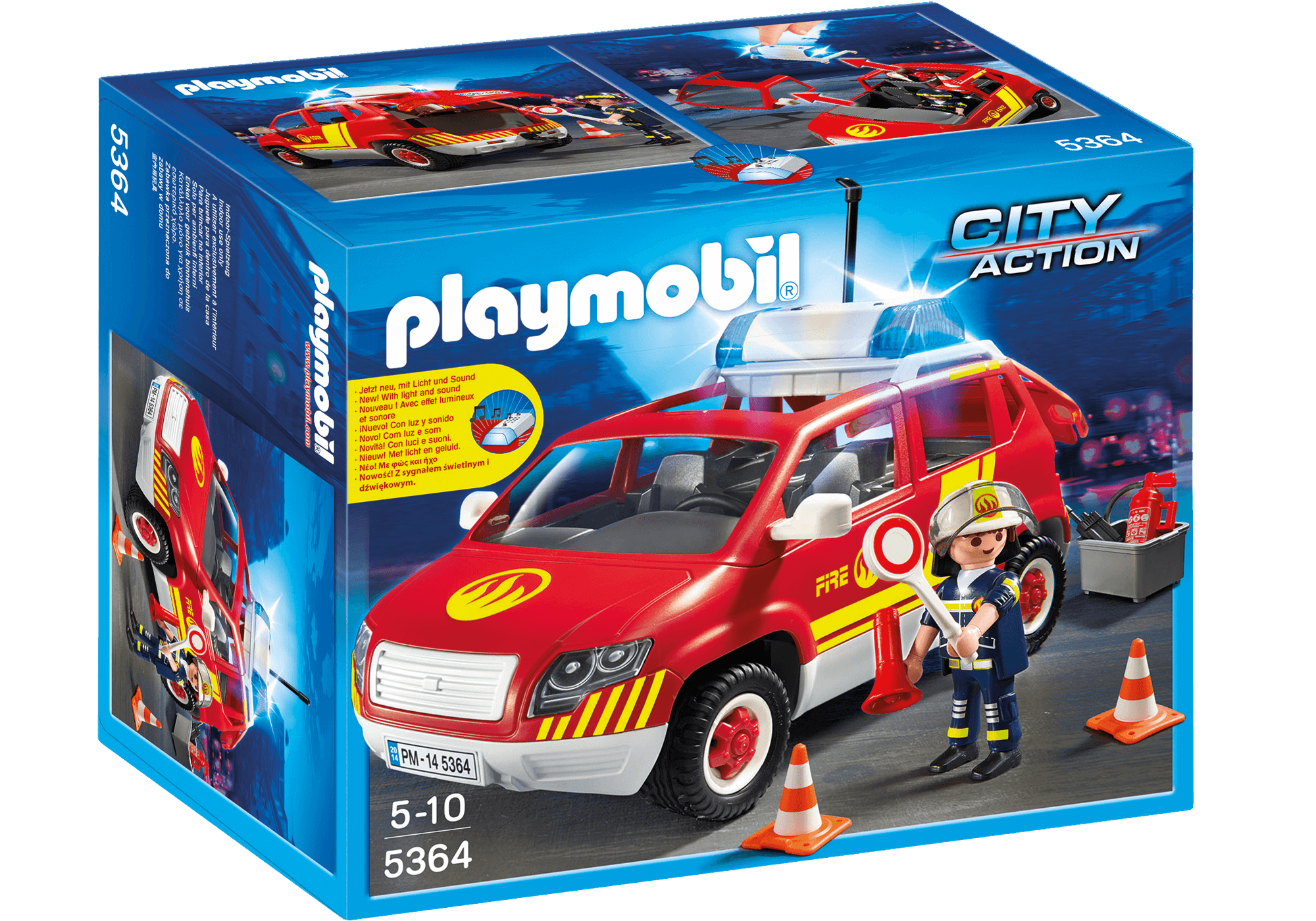 Läs mer om Playmobil Brandchefsbil Med Ljud Och Ljus 5364
