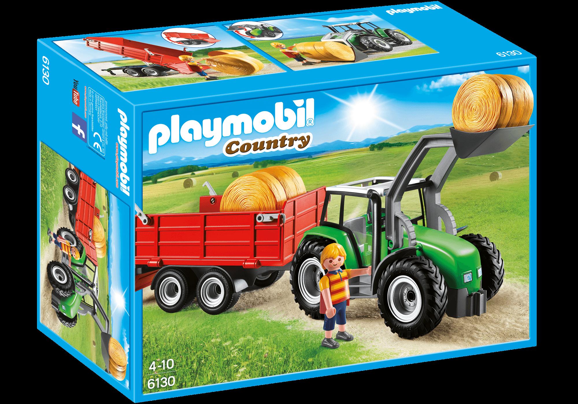 Läs mer om Playmobil Stor Traktor med Släp 6130