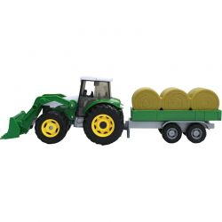 Leksakstraktor med balvagn Teama