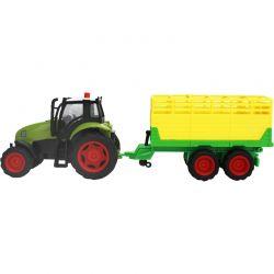 Leksakstraktor med boskapsvagn Kids Globe