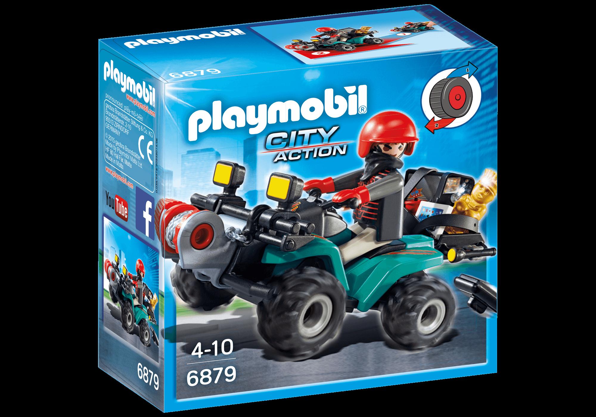 Läs mer om Playmobil Rånare på Fyrhjuling 6879