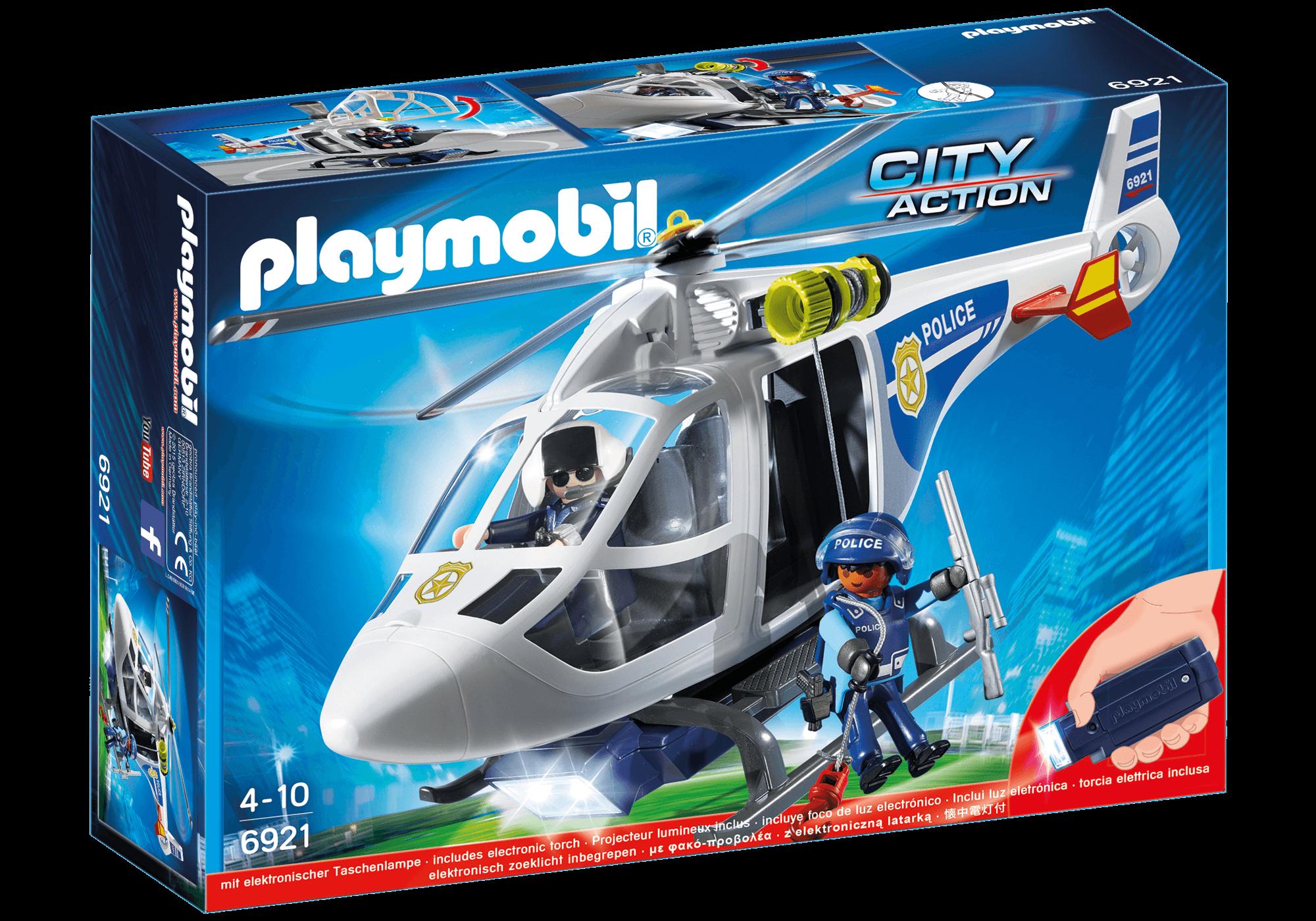 Läs mer om Playmobil Polishelikopter med LED-lampa 6921
