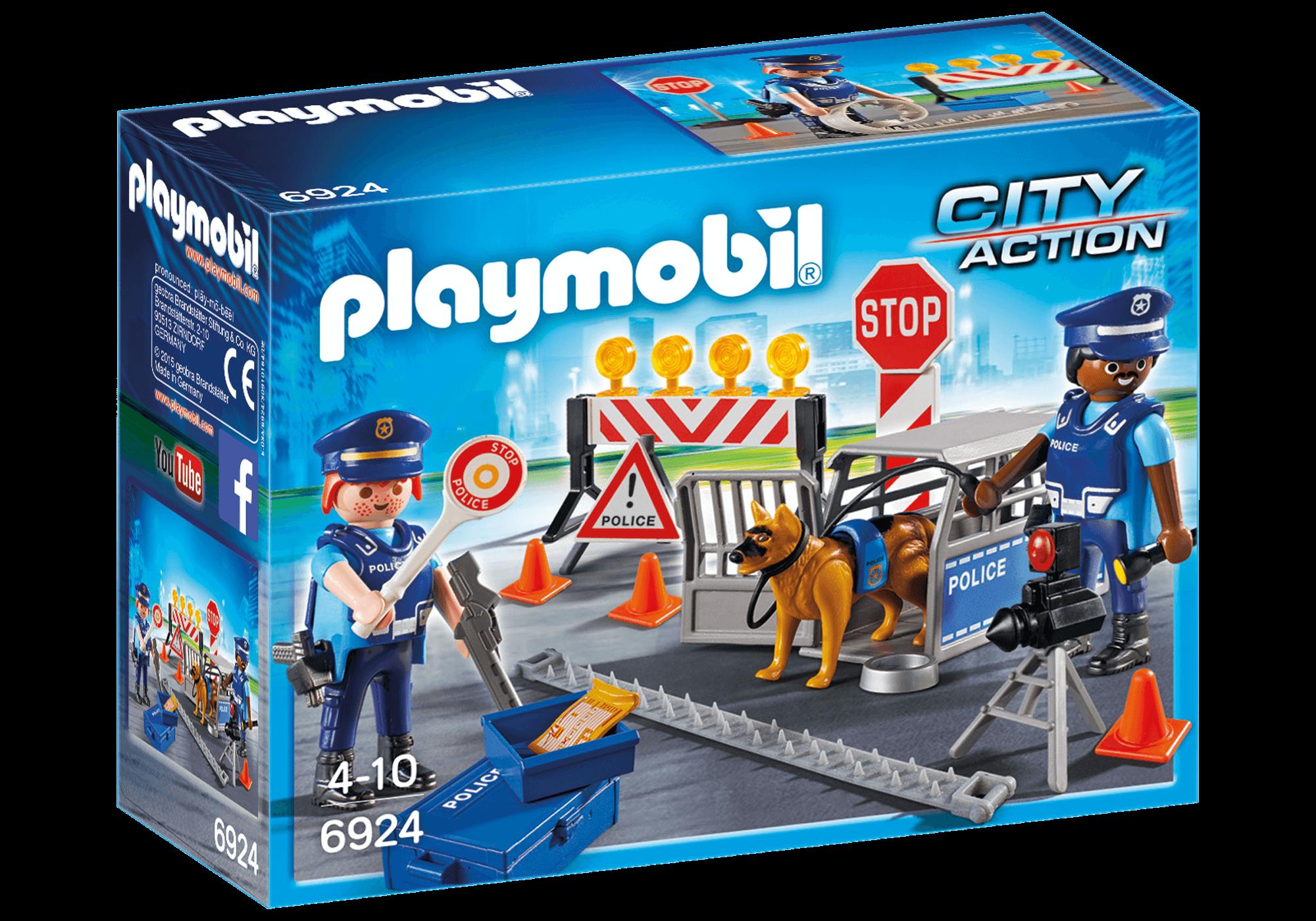 Läs mer om Playmobil Vägspärr Polis 6924