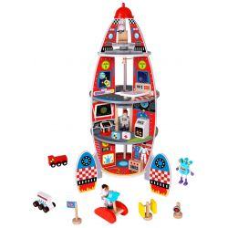Rymdraket i trä, dockhus, Tooky Toy