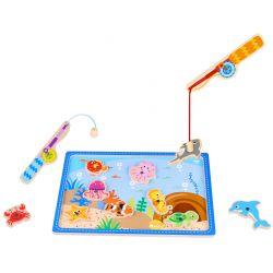 Fiskespel i trä med magneter Tooky Toy
