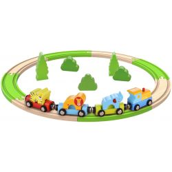 Tågbana i trä 20 delar Tooky Toy