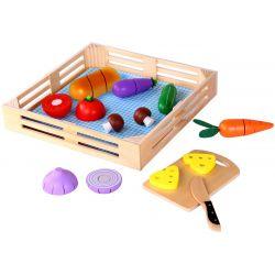 Låda med delbara grönsaker i trä,Tooky Toy