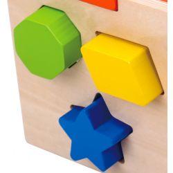 Plock och sorteringslåda i trä, leksak Tooky Toy