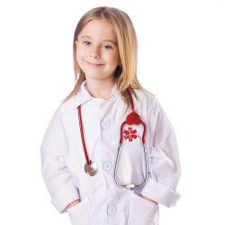 Doktorsrock med stetoskop 3-7 år