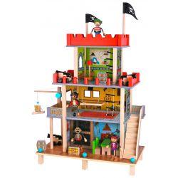Piratslott i trä, dockhus, Tooky Toy