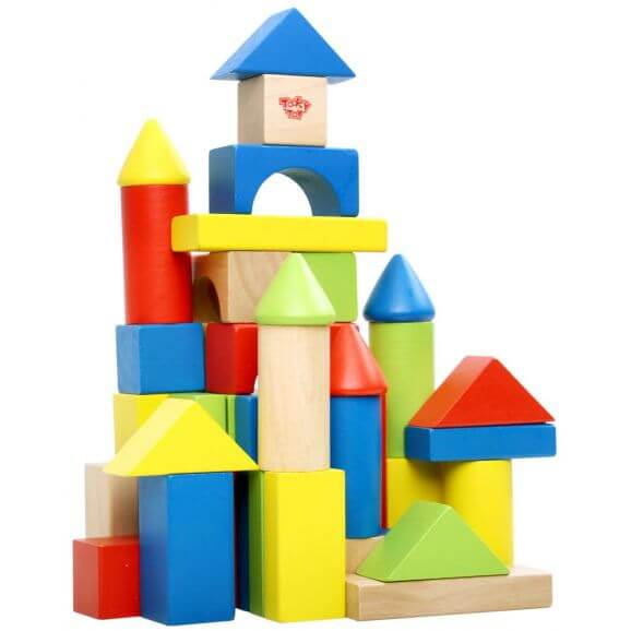 Färgglada byggklossar paket med 50 delar Tooky Toy