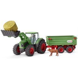 Schleich Farm World Traktor med trailer 42379