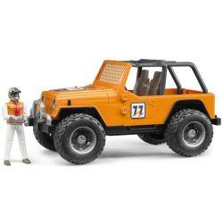Bruder Jeep Wrangler med figur 02542